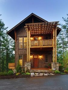 LOVE this place--- Asheville House Rental: Artistic Modern Treehouse- Mountain Views -luxurious Amenities Asheville, Luxury Living, Modern Rustic, Pergola, Architecture, House Styles, North Carolina, Carolina Usa, Places