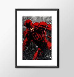 Daredevil - Classic Superhero  - PRINTED - BUY 2 Get 1 FREE by ShamanAlternative on Etsy