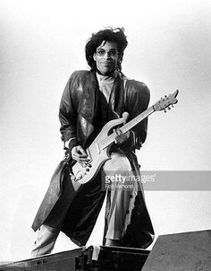 Prince performs on stage on his Sign 'o' the Times Tour Nieuw Galgerwaard Utrecht Netherlands 19th June 1987