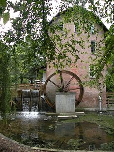 Deep River Grist Mill  Hobart, Indiana,  USA~we were married here at the Gazebo near the Mill. <3