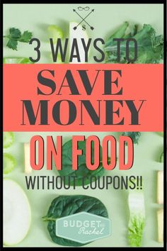 Saving money on groceries without using coupons. Food is expensive but there are 3 ways you can save massive amounts of money on food. Using these tips cut my grocery budget in half! Saving Money Quotes, Money Saving Challenge, Money Saving Tips, Money Tips, Save Money On Groceries, Ways To Save Money, Groceries Budget, Budgeting Finances, Budgeting Tips