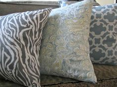 Need this for the ugly pillows that came with my couch!   How To Make a No Sew Pillow Cover