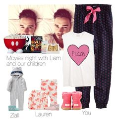 """Movies night with Liam and our children"" by haushuahusahuhushu ❤ liked on Polyvore featuring American Eagle Outfitters, UGG Australia, Zak! Designs and LiamPayne"