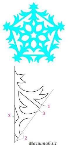Поделки из бумаги – снежинки своими руками: 2 шаблона для вырезания Christmas Paper Crafts, Christmas Projects, Holiday Crafts, Christmas Crafts, Christmas Decorations, Paper Snowflake Designs, Paper Snowflakes, Christmas Snowflakes, Origami