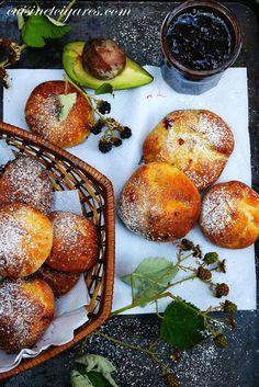 Brioches sans beurre (à l'Avocat) fourrées à la Confiture de Mûres Sauvages