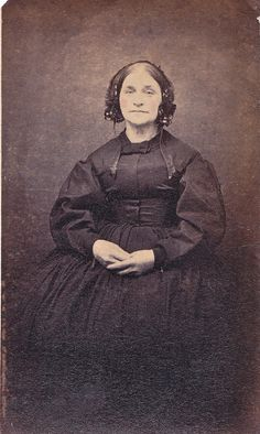 Unmarked Albumen Carte de Visite of Woman in Mourning, Circa 1864 | Flickr - Photo Sharing!