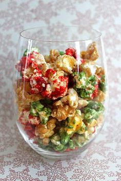 Christmas Caramel Popcorn.  This site has some great holiday recipes.