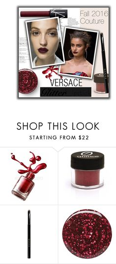 """""""Untitled #639"""" by valenouladls ❤ liked on Polyvore featuring beauty, Gucci, Burberry, NARS Cosmetics and Versace"""