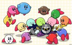 """Mass Attack Again by Sirometa.deviantart.com on @DeviantArt """"Crap! Were are all these Kirby's coming from?!"""""""