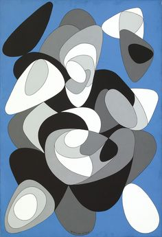 """Victor Vasarely, was a Hungarian-French artist, who is widely accepted as a """"grandfather"""" and leader of the op art movement. His work entitled Zebra, created in the is considered by some to be one of the earliest examples of op art. Victor Vasarely, Paul Klee, Illustrations, Illustration Art, Abstract City, Black And White Painting, Contemporary Abstract Art, Mid Century Art, Art Abstrait"""