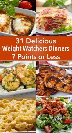 Skinny Points Recipes 31 Delicious Weight Watchers Dinners for 7 Points or Less Plats Weight Watchers, Weight Watchers Diet, Weight Watcher Dinners, Weight Watchers Lunches, Weigh Watchers, Weight Watcher Smart Point Meals, Weight Watchers Points List, Weight Watchers Casserole, Skinny Recipes