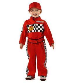 disfraz piloto tipo cars para niño