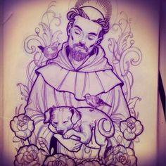 tattoo sao francisco de assis - Pesquisa Google