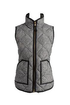 'Jane' Herringbone Puffer Vest from Goodnight Macaroon