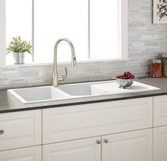 porcelain kitchen sink with drain board