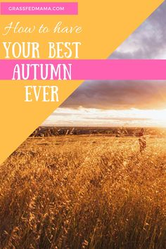 How to Have your Best Autumn Ever