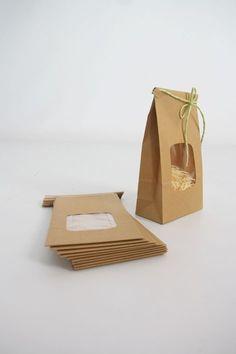 Half Pound Kraft Tin Tie Bags Set of 10 with by leboxboutique, $6.95