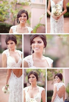 Love the hair, dress, and earrings! Wedding Wishes, Wedding Bells, Wedding Gowns, Dream Wedding, Wedding Day, Wedding 2015, Wedding Stuff, Wedding Photos, Wedding With Kids