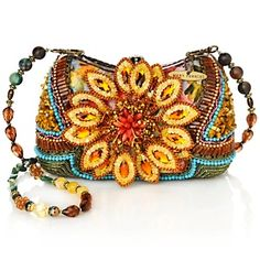 Mary Frances Beaded Sunflower bag