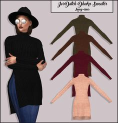 Jordutch's Dhaka Sweater for The Sims 4 Sims 4 Mods Clothes, Sims 4 Clothing, Sims Mods, Female Clothing, Sims 4 Mm, My Sims, Maxis, The Sims 4 Cabelos, Sims 4 Gameplay