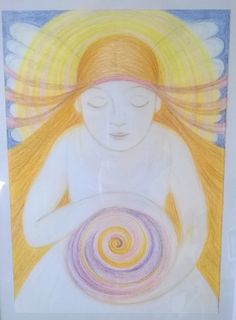 Spiral of Life, Art by Ivana Axman www.ivanaaxman.com #goddess #angel #fairies #mood #pagan #wicca #symbols