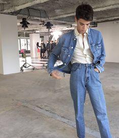 Men's fashion  Denim on denim
