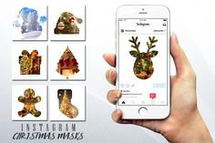 #Christmas #Instagram Photo Masks by Flotas Media Market on @creativemarket