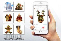 #Christmas #Instagram Photo Masks by Flotas Media Market on @creativemarket