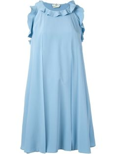Shop Fendi ruffled trim dress.