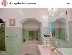 Retro Bathrooms, Vintage Tile, Time Capsule, Corner Bathtub, Wonderful Time, 1930s, Spanish, Arch, Type