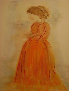 Geïnspireerd door een tentoonstelling wilde ik een 'dame' op doek maken. Vanuit mijn gevoel werden het er 2, de een in de schaduw van de ander, vaag zonder duidellijk gezicht maar toch overtuigend aanwezig zijn beide dames. Voor mij is het een vertaling geworden van de beleving van mijn hooggevoeligheid en de kracht van het hart, de doorstroom van energie Painting, Art, Shop Signs, Art Background, Painting Art, Kunst, Paintings, Performing Arts, Painted Canvas