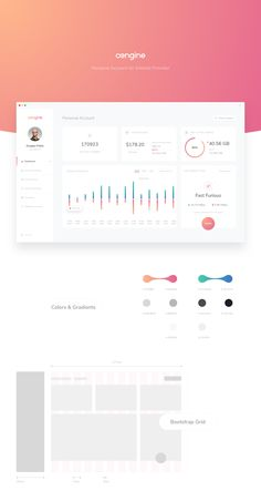 Engine Dashboard - Personal Account Redesign Concept on Behance Dashboard Interface, Web Dashboard, Ui Web, Dashboard Design, App Ui Design, User Interface Design, Design Thinking, Motion Design, Wireframe Mobile