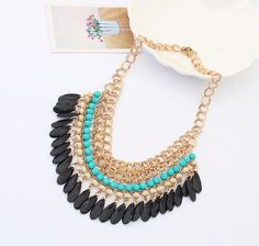 tassels ,Bohemia, necklace chain,metal necklace,necklaces for women,punk style,statement necklace on Etsy, $8.74