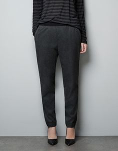 TROUSERS WITH ELASTIC WAISTBAND - Trousers - Woman - ZARA United States $39.99