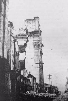 Catedral de San Francisco, poco después de los terremotos 1917-1919.