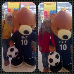 let's play soccer with teddy