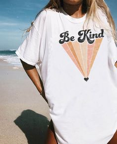 Be Kind. Our newest collection of graphic tees! With distressed, vintage style prints, these are your new go-to wardrobe staple. #graphictee #vintagetshirt #graphictshirt Vintage Graphic Tees, Vintage T Shirts, Graphic Tee Style, Cute Graphic Tees, Graphic Tee Shirts, Vintage Outfits, Vintage Clothing, Cute Tshirts, Aesthetic Clothes