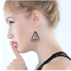 Triangle Cage Earrings. www.shopsassygirls.com Instagram: shopsassygirls