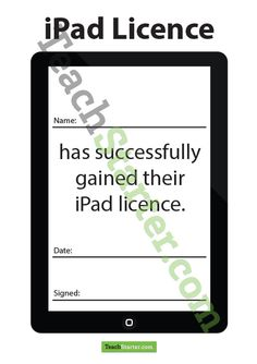 iPad Licence | Teaching Resources - Teach Starter