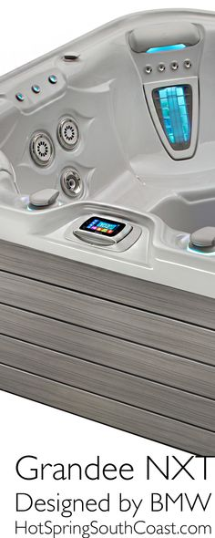 The 2014 Highlife NXT Collection has been re-designed by BMW Group DesignWorks USA. This truly luxurious Grandee spa can comfortably host a party of seven adults. Tubs For Sale, Spring Spa, Happy Hot, Hot Tubs, Portsmouth, Southampton, Spas, Hot Springs, Birmingham