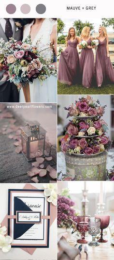 mauve purple and grey vintage wedding colors ideas / http://www.deerpearlflowers.com/mauve-wedding-color-combos/ #purplewedding #mauvewedding #weddingcolors #weddingdecoration