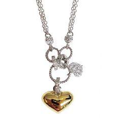 Tigerstars l $54.00 Glittering Gold Cz Heart Necklace