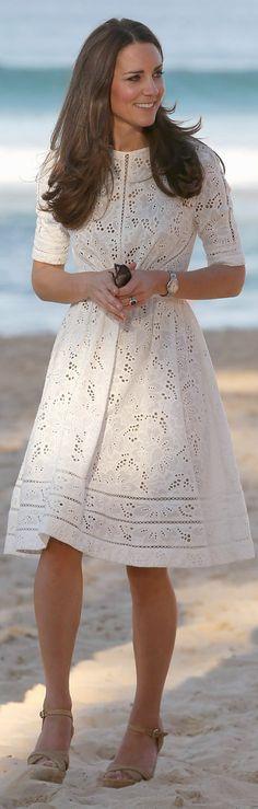 Kate Middleton Wears Dainty Zimmermann for a Nice Beach Stroll