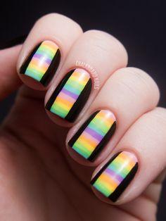Chalkboard Nails: 31DC2012: Day 12, Stripes