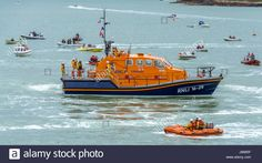 Download this stock image: Scenes from Moelfre Lifeboat day on Anglesey, taken on the 16th August 2014. - JB685F from Alamy's library of millions of high resolution stock photos, illustrations and vectors.