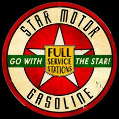 gas Poster Sign Vintage Art | ... Gasoline Sign Vintage Gas - Oil Signs Signs For Sale: 14 Inch Signs