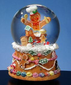 Gingerbread Baker Musical Water Globe #zulily #zulilyfinds