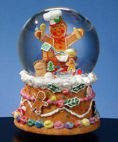 Gingerbread Baker Musical Water Globe #zulily #zulilyfinds