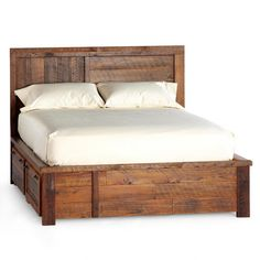 Park City Platform Bed Rustic With Storage Beds