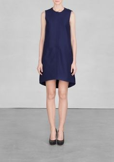 And Other Stories   Cotton A-line dress   Navy